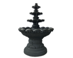 Tiered Bowls Water Fountain - Black