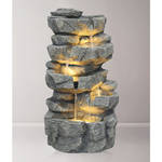 Tabletop - Stacked Rock Waterfall With LED