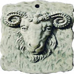 Rams Head Plaque