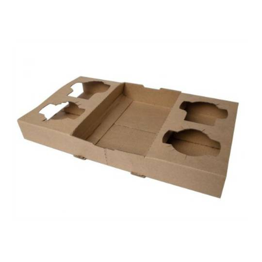 4 Cup Cardboard Carrier Trays x 100