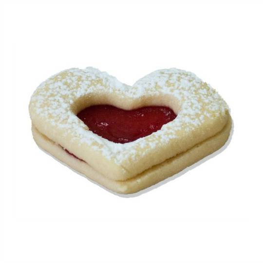Auntie Val's Large Jam Hearts x 20