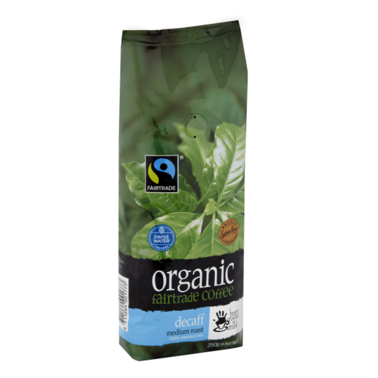 Organic BG&D Decaffeinated Coffee Beans 250gm