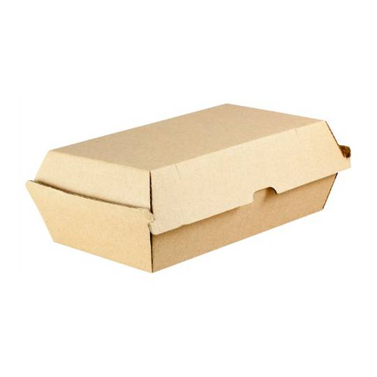 Kraft/Bioboard Snack Box Large 205 x 107 x 77mm X 200