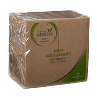 Caprice Eco Green GT Fold KRAFT Quilted Napkin x 1000