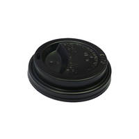Enjoy Your Coffee & Esp G Black 12/16oz Travel Lids x 50