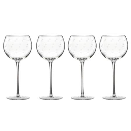 larabee dot wine balloon set 4