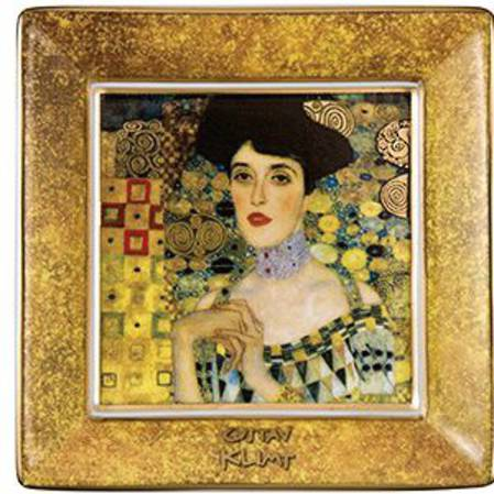 Klimt Adele Square Plate