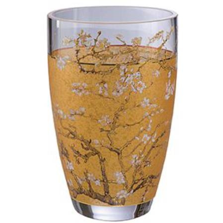 Van Gogh Almond Tree Gold Vase 19cm