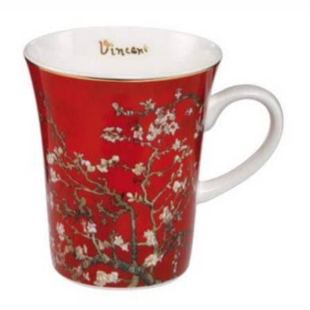 Van Gogh Almond Tree Red Mug