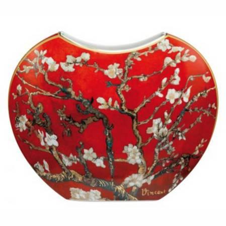 Van Gogh Almond Tree Red Vase 21cm