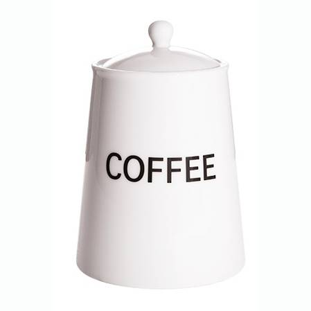 Arctic White Storage Jar Coffee