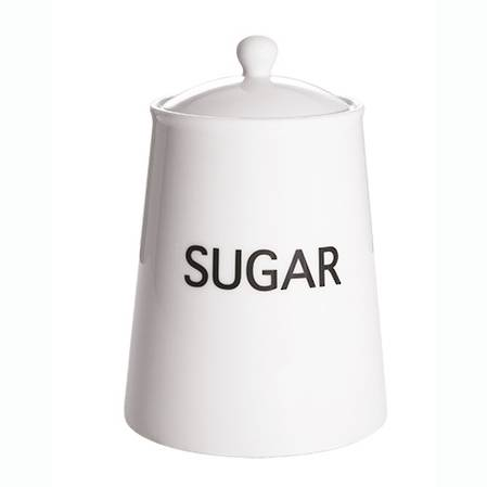 Arctic White Storage Jar Sugar