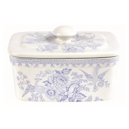 Asiatic Pheasant Butter Dish with Lid