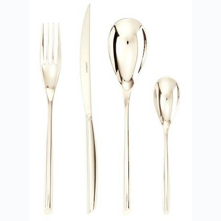 Bamboo PVD Champagne 24 Piece Cutlery Set