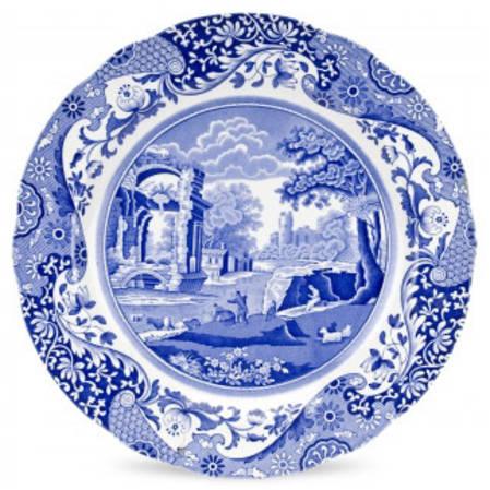 Blue Italian Buffet Plate