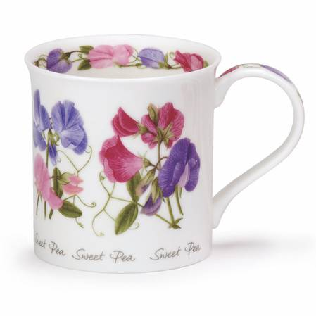 Dunoon Summer Flowers Sweet Peas Mug