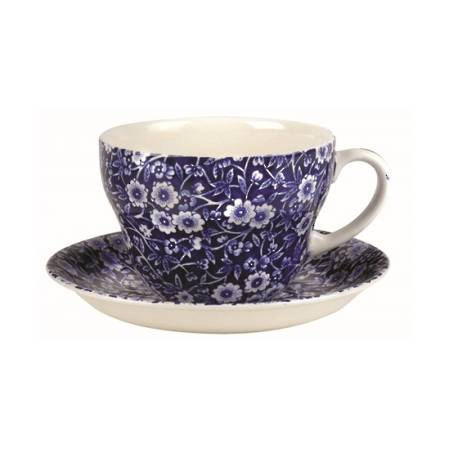 Calico Breakfast Cup & Saucer
