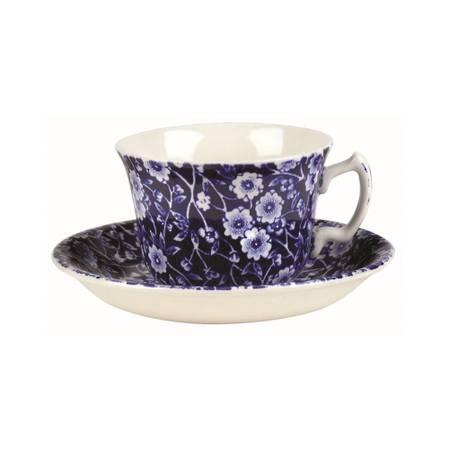 Calico Tea Cup & Saucer
