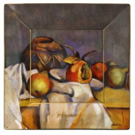 Cezanne Still Life With pears Square 12cm Plate