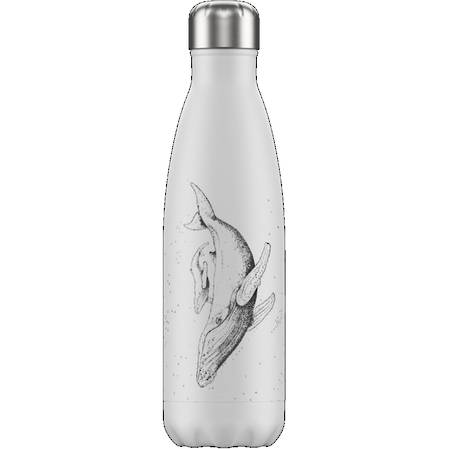 Chillys Insulated Bottle Whale White 500ml