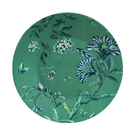 Chinoiserie Green Lunch Plate