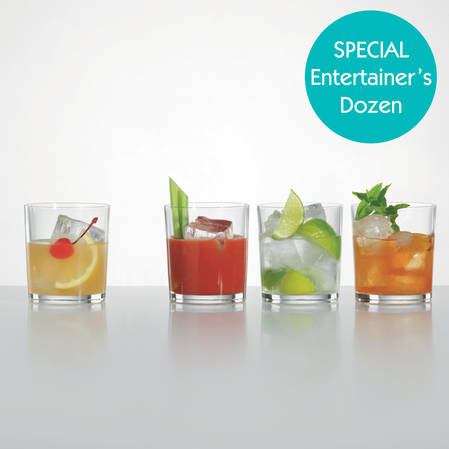 Entertainers Club Tumbler / Double Old Fashioned Set
