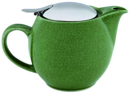 Teapot Crackle Green