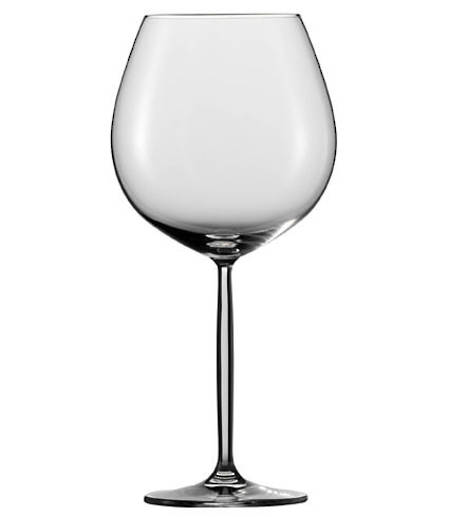 Diva Burgundy Wine Glass Set