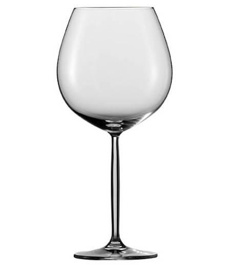 Diva Burgundy Wine Glass Set
