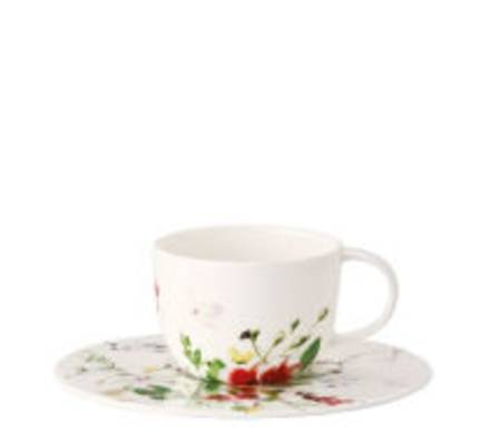 Fleurs Sauvages Espresso Cup and Saucer