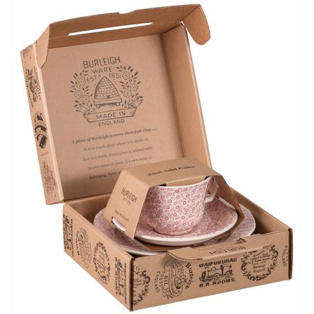Felicity Pink Tea Cup, Saucer and Plate