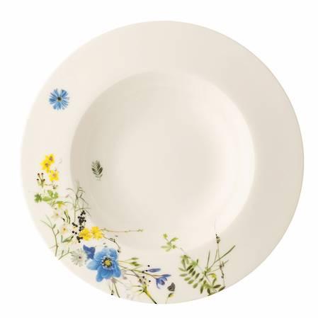 Fleurs des Alpes Rimmed Deep Plate / Bowl