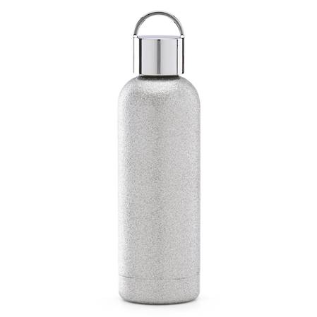 kate spade hydration silver glitter bottle