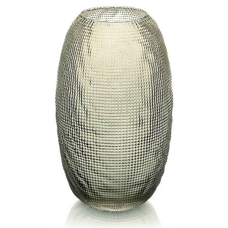 Diamante Beige/Chrome Vase 29cm