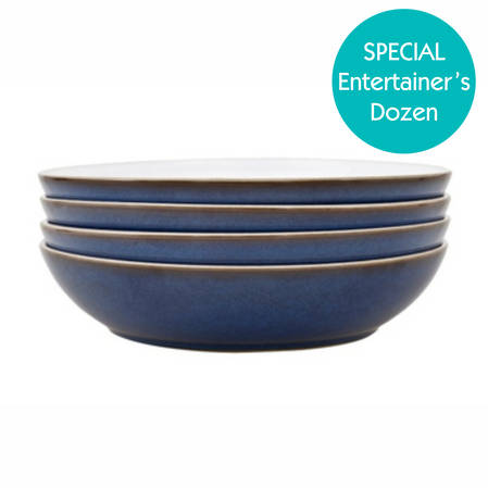 Entertainers Imperial Blue Pasta Bowl Set