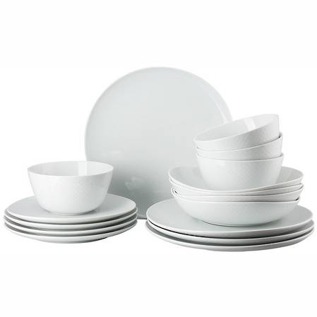 Junto White 16 Piece Set Relief