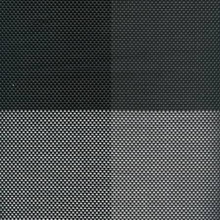 Linea Q Placemat Set 4 Black Block