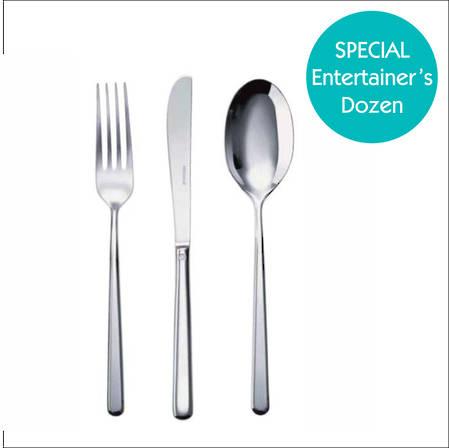 Linear 30 Piece Cutlery Set