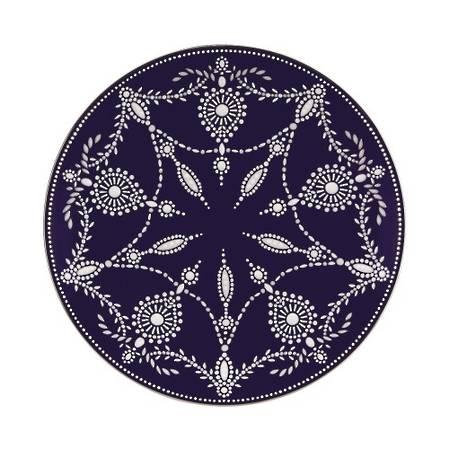 Empire Pearl Indigo Accent Plate