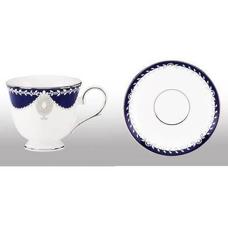 Empire Pearl Indigo Cup & Saucer