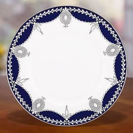 Empire Pearl Indigo Salad Plate