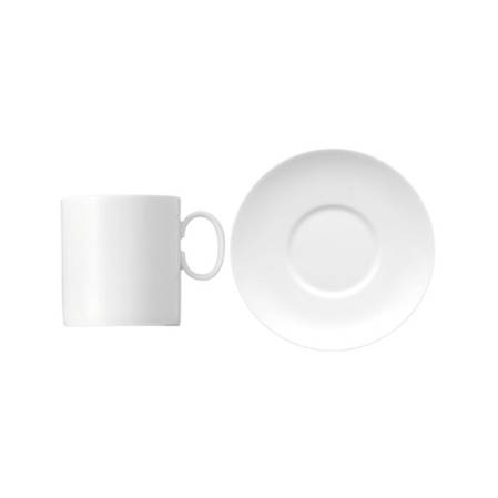 Medallion White Espresso Cup & Saucer 2 Tall