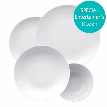 Entertainers Medallion White Dinnerset