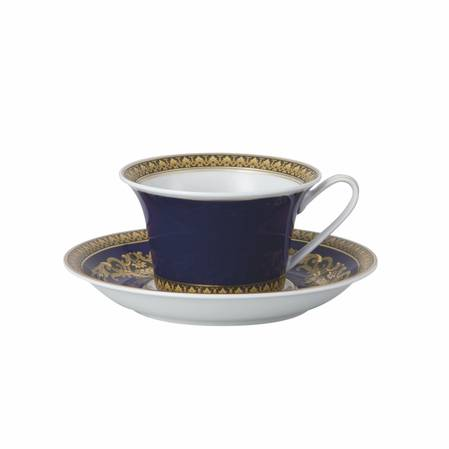 Medusa Blue Cup and Saucer Low