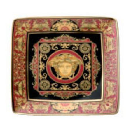 Medusa Red Square Dish Flat 12cm