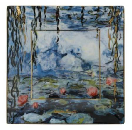 Monet Waterlilies Square 12cm Plate