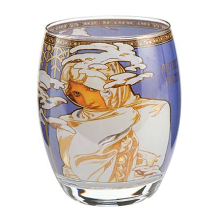 Mucha Tealight Winter