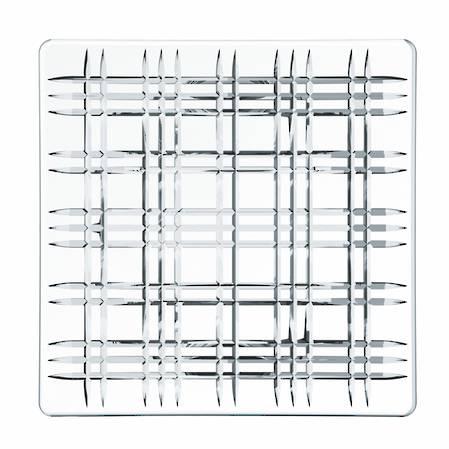 Square Plate 21cm Pair