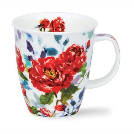 Dunoon Peonies Red Mug