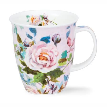 Dunoon Peonies White Mug